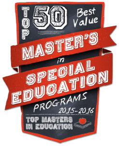 Top 50 Best Value Masters in Special Education Programs 2015-2016
